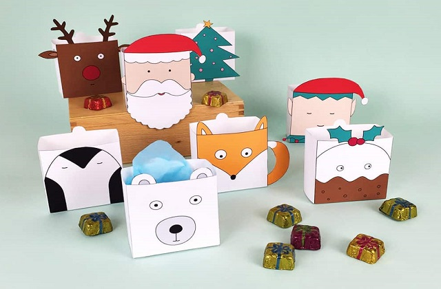 Christmas house boxes