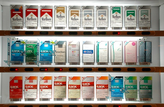 colorful cigarette boxes