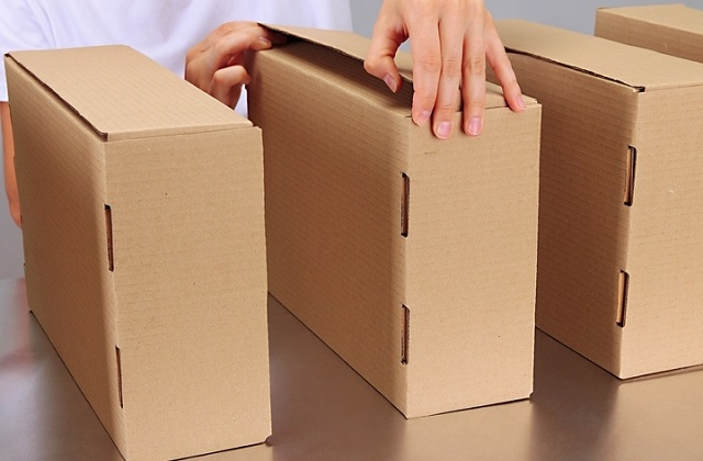boxes made from cardboard