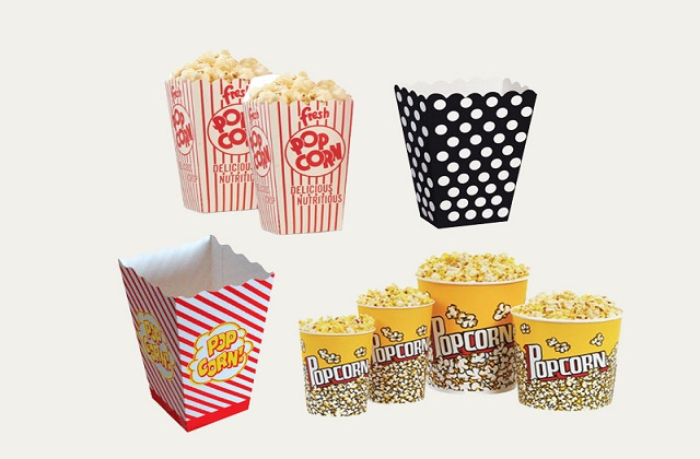 customization options for popcorn boxes