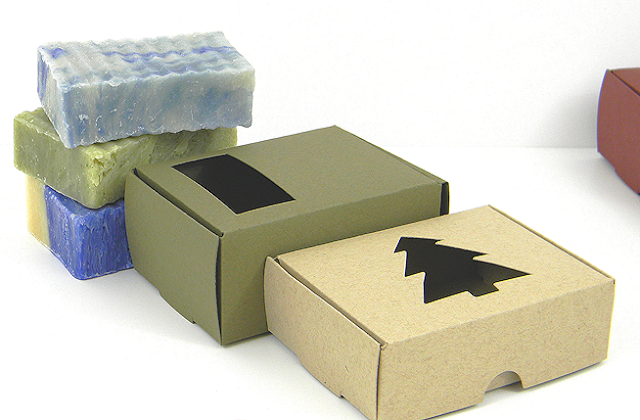 soap boxes with windows or die cut