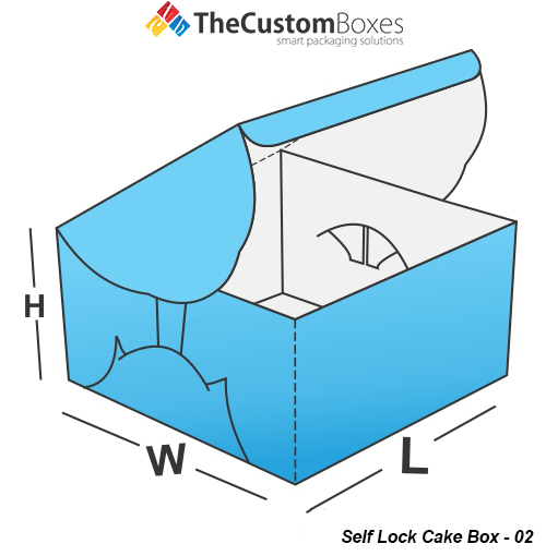 Self Lock Cake Box Design