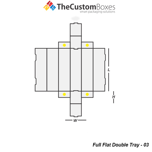 Full Flat Double Tray Template