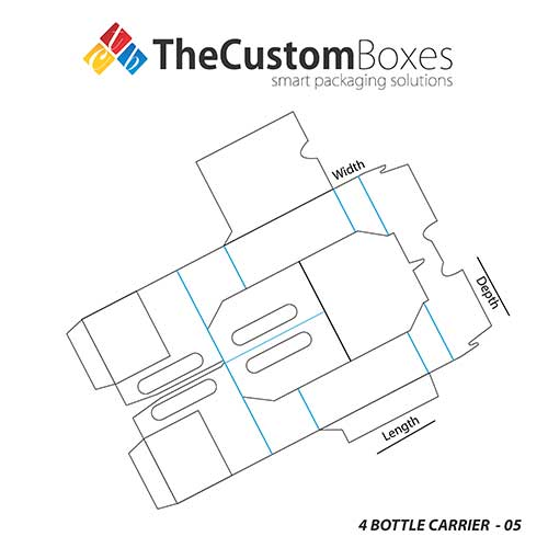 4 Bottle Carrier Template Design