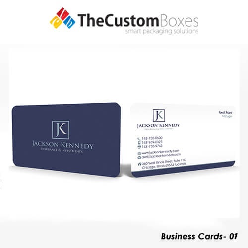 Custom business card printing and packaging the custom boxes custom business cards reheart Choice Image