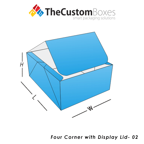 Four Corner With Display Lid Boxes Design And Printing