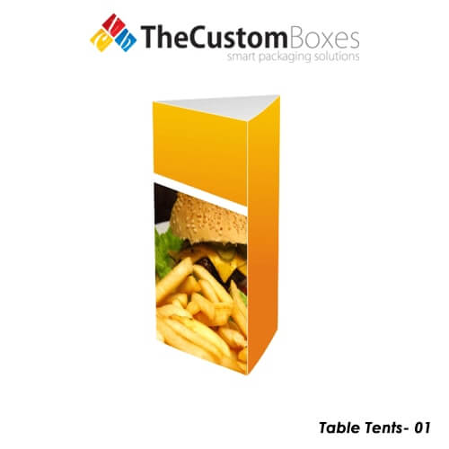 custom table tents printing and designing