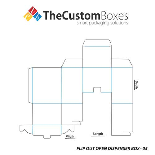 Retail Special Flip Out Open Dispenser Box With Quality