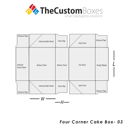 Four-Corner-Cake-Box-Design