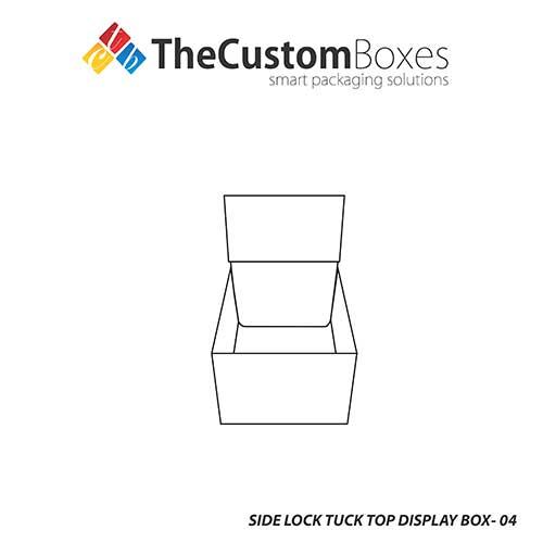 Side Lock Tuck Top Display Box Template