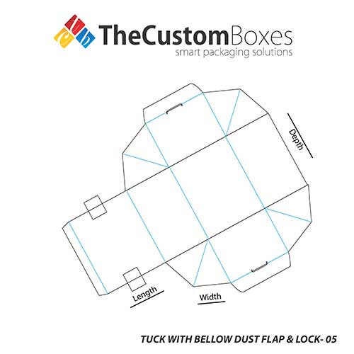 Tuck-With-Bellow-Dust-Flap-and-Lock-full-template
