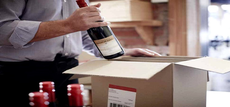Packaging of Wine For Shipping