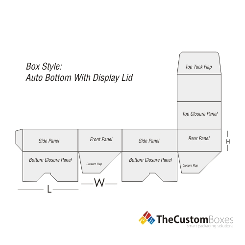 Structural Design of Auto Bottom with Display Lid