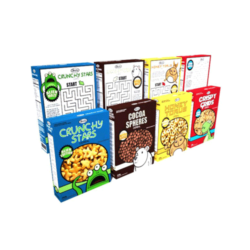 display Cereal Boxes
