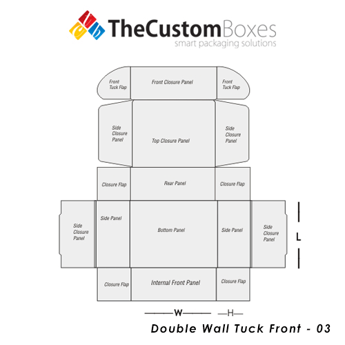 Double Wall Tuck Front Box Design