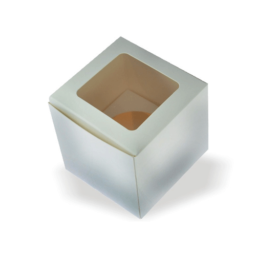 white color Cake Boxes packaging designs